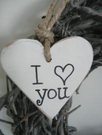 """Houten hart  """" I love you"""""""