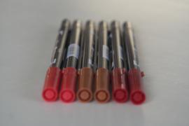 penseelstiften roodtinten