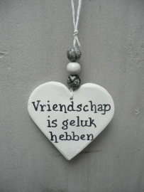 "Teksthart gips ""vriendschap....."