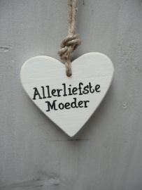 """Houten hart """"allerliefste moeder"""""""
