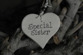 Teksthartje 'special sister'