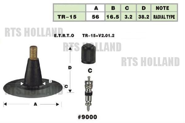 TR-15 Binnenbanden 5.00/5.50-16