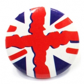 Retro button Union Jack