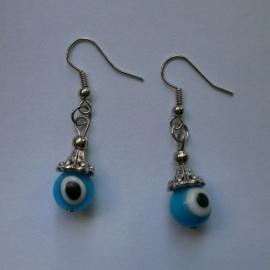 Boze oog oorbellen turquoise