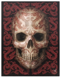 Oriental Dragon Skull 2 - wandbord van Anne Stokes - 25 x 19 cm