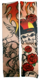 Tattoo sleeve doodskop germany