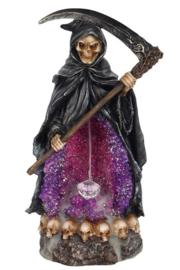Magere Hein Grim Reaper Backflow Wierookbrander met Led Licht - 26 cm hoog