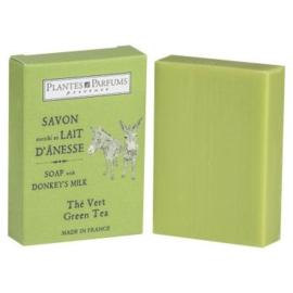 Zeep met ezelinnenmelk - groene thee - 100 g