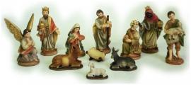 Kerstfiguren hg 9 cm set van 12 stuks