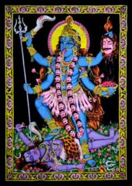 Indiase Hindu god wandkleed Kali 40 x 55 cm