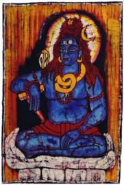 Batik wandkleed van Nepal - Shiva - 60 x 90 cm
