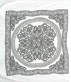 Bedsprei, wandkleed, grand foulard Keltische Mandala   - 220 x 240 cm