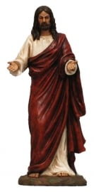 Jezus Christus met gestrekte armen -  26 cm hoog