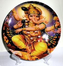 Sierbord met standje - Dansend Ganesha - 21 cm doorsnee