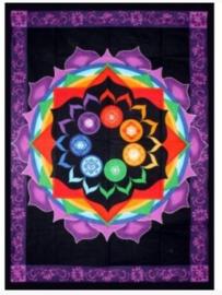 Bedsprei / wandkleed Chakra Rainbow - 133 x 193 cm