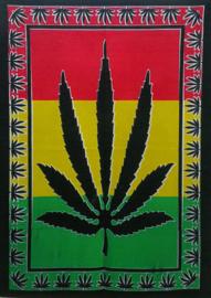 Muurkleed Wandkleed Cannabisblad Rasta  - 80 x 110 cm
