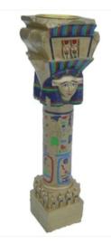 Egyptische Paal theelichthouder 23 cm hoog