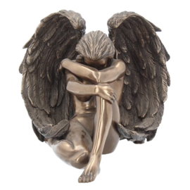 Angel's Despair - Gothic Fee of Engel - bronskleurig - 16.5 cm hoog