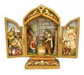 Drieluik Heilige Familie hg 18 cm