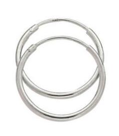925 sterling zilveren hoep oorbellen 1.2 cm doorsnee