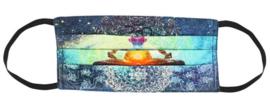7 Chakra's katoenen gezichtsmasker 17 x 30 cm