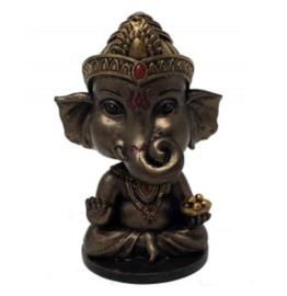 Ganesha brons Bobblehead - 10 cm hoog