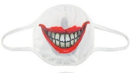 Gezichtsmasker clown mond - 12 x 30 cm