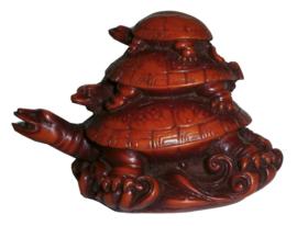 Feng Shui 3 Schildpadden rood 9 x 12 cm