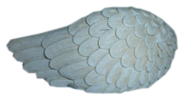 Kat grafsteen herinneringsbeeld engel met vleugels - No longer by my side - 17 x 8.5 cm