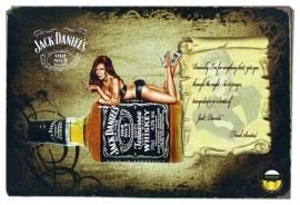 Blikken metalen wandbord Jack Daniel's 8 - 20 x 30 cm