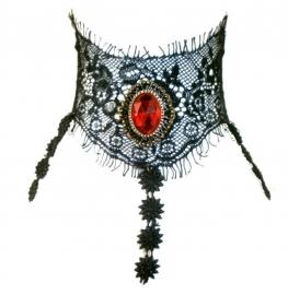 Graveyard cobwebs - Gothic zwarte kanten choker