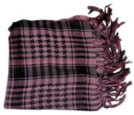 Arafatsjaal / Shemagh / Palestijnse sjaal roze zwart