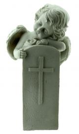 Eternal Peace - cherub met grafsteen - 16 cm hoog