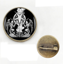 Broche / pin Baphomet - 2 cm doorsnee