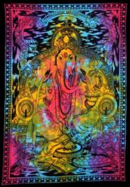 Muurkleed Wandkleed Ganesha gekleurd 2  - 80 x 110 cm