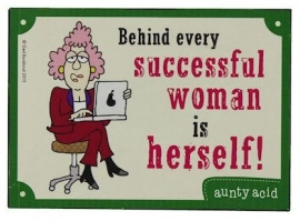Blikken metalen wandbord Auntie Acid - Successful - 21 x 15 cm