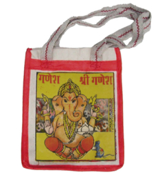 Bollywood Bag Indiase katoenen shopper - Ganesha - 35 x 30 x cms