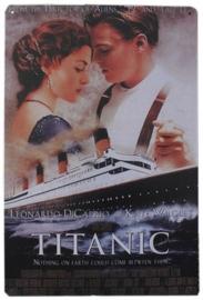 Blikken metalen wandbord Titanic 2 20 x 30 cm