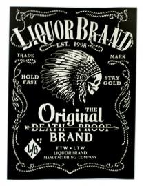 Sticker Liquor Brand - Doodskop Indiaan