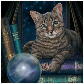 Fortune teller kat - wenskaart Lisa Parker - 13 x 13 cm
