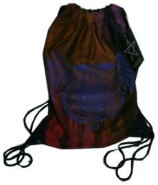 Darkstar Jordash tiedye sporttas pentagram met draken