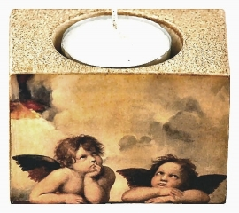 Cherub tea light holder