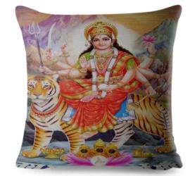 Kussenhoes Hindu God - Durga - 45 x 45 cm