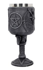 Baphomet's Thirst - Gothic Occulte Kelk - 20 cm hoog