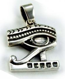 925 zilveren kettinghanger Egyptische Oog van Horus 3 x 2 cm