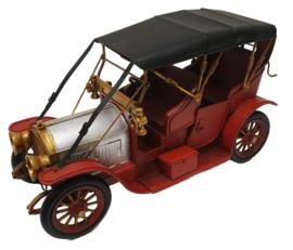 Miniatuur auto vintage oldtimer rood - 33 x13 x19 cm