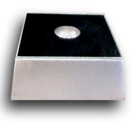 Lichtplateau gekleurd licht witte vierkante voet - 6,5 x 6,5 x 3 cm
