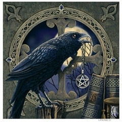 Talisman Raven - wandbord Lisa Parker - 28 x 28 cm