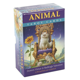 Animal Tarot kaarten - Doreen Virtue en Radleigh Valentine - 13,9 x 9,7 x 5,3 cm