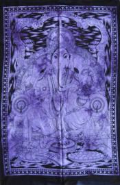 Wandkleed Hindu God Ganesha paars  - 80 x 110 cm